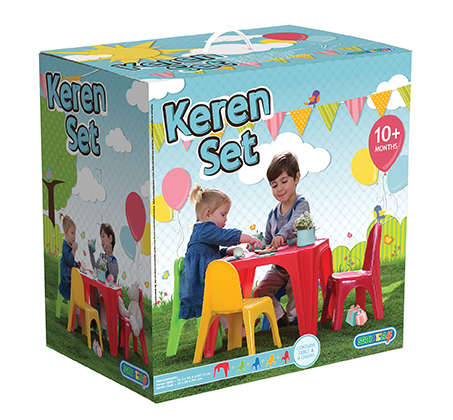 סט ישיבה לילדים הכולל שולחן ו-4 כסאות למרפסת ולחצר Starplast - תמונה 2