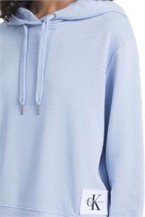 קפוצ'ון סווטשירט לנשים של קלוין קליין דגם J20J207070400 בצבע תכלת