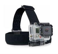 רצועת ראש מתכווננת ואלסטית למצלמת אקסטרים כגון GoPro / SJ4000 באיכות גבוהה ונוחות מירבית