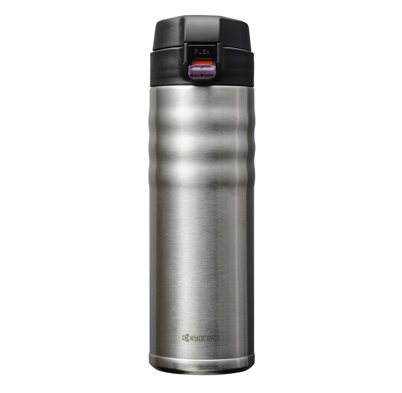כוס תרמית קרמית בשני גדלים ובצבעים כסוף ושחור לבחירה מבית KYOCERA - משלוח חינם - תמונה 2