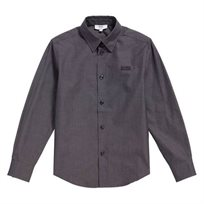חולצה מכופתרת BOSS לילדים (מידות 16-4 שנים) אפור כהה