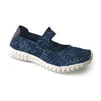Rock Spring Nyc - נעלי סירה קלועות בצבע נייבילבן