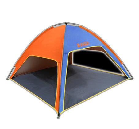 אוהל חוף משפחתי פתוח עם 3 כיווני אוויר