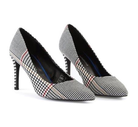 נעלי עקב פפיטה PROMOD לנשים - שחור מודפס