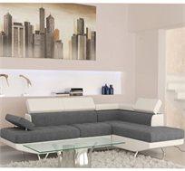ספה פינתית בשילוב דמוי עור איכותי HOME DECOR בעיצוב מרשים