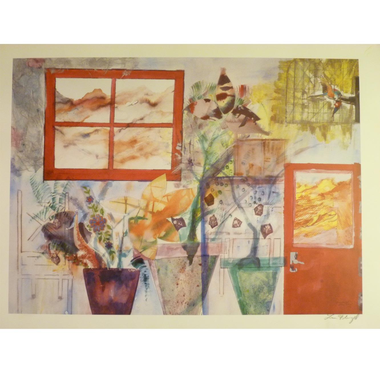 """""""שלושה עציצים"""" - ציורה של פליגל ליסה"""