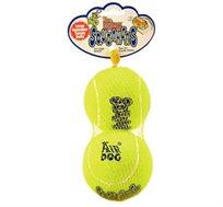 זוג כדורי טניס קונג אייר סקויקר L לכלב בינוני-גדול