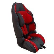 כיסא בטיחות משולב בוסטר עם משענת ראש מתכווננת אדום/אפור