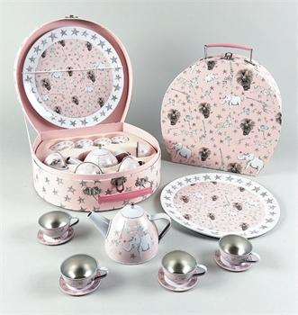 סט תה במזוודה 11 חלקים פארטי אנימל