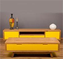 סט מזנון ושולחן סלון בעיצוב רטרו