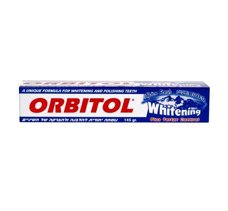 מארז 12 יחידות משחת שיניים אורביטול Alpine fresh להלבנת שיניים