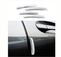 הסוף לשריטות! סט מגיני דלת/מראות לרכב המכיל 4 מדבקות סיליקון ב-2 גדלים שונים להתקנה עצמית קלה ומהירה