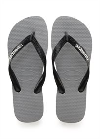 Havaianas גברים //  Logo Filete Steel Grey/White