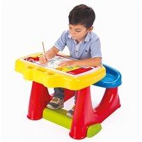 שולחן ציור ויצירה עם תא אכסון וספסל ישיבה