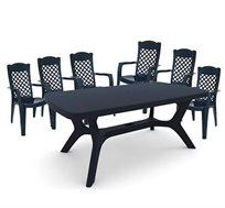 פינת אוכל לגינה ולמרפסת עם 6 כיסאות KETER