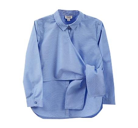 חולצת OVS מעטפת עם חגורה לילדות - כחול