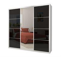 ארון 3 דלתות הזזה בעל מדפי אחסון ומוטות תלייה כרמל ארונות במבחר צבעים וגדלים לבחירה