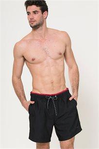 מכנסי בגד ים לגברים - שחור