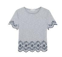 חולצת כותנה רקומה PROMOD - שני צבעים לבחירה