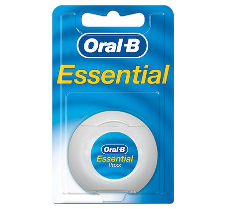 9 יחידות חוט דנטלי Essential ללא שעווה 50 מ' אורל בי