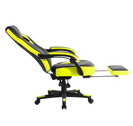 כיסא משרדי מיוחד לחובבי המשחקים לשימוש בבית ובמשרד עם הדום נפתח HOMAX - תמונה 4