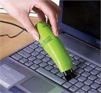 די לפירורים במקלדת! מיני שואב אבק למחשב המתחבר באמצעות USB כולל מברשת החלפה