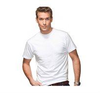 שישיית חולצות T-shirt בצבע לבן 100% כותנה