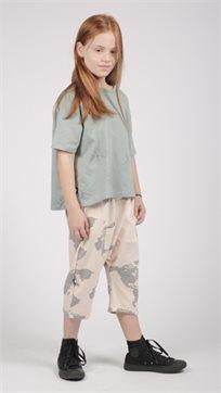 MAYAYA חולצת בנות (2-14 שנים) ISO ירוק הדפס