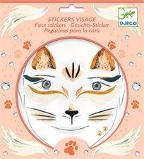 מדבקות פנים - חתולים - Djeco - חדש!