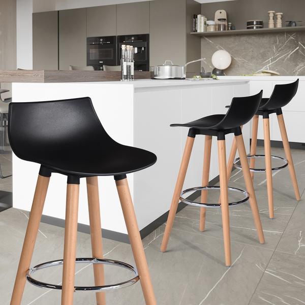 כיסא בר דגם לילי בצבעים מבריקים לבחירה HOMAX - תמונה 4