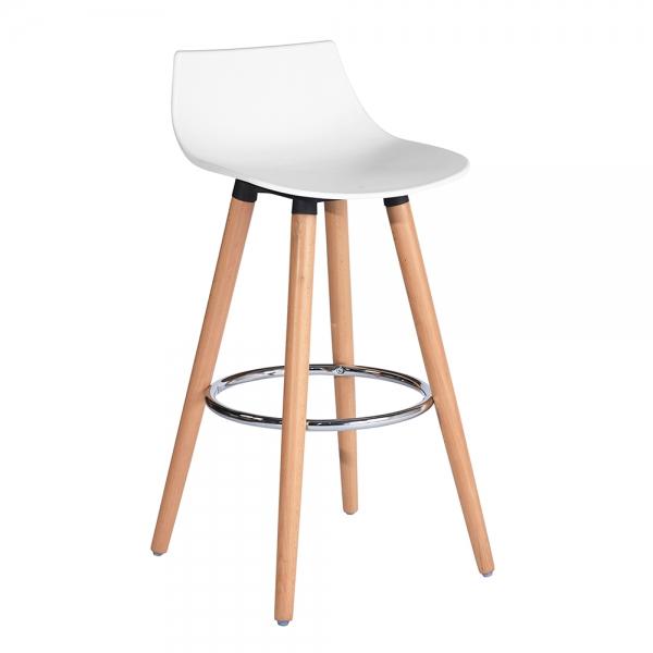 כסא בר משולב פלסטיק ועץ
