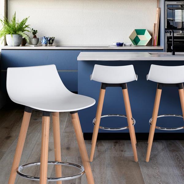 כיסא בר דגם לילי בצבעים מבריקים לבחירה HOMAX - תמונה 6