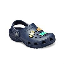 Crocs Classic Charm Clog Kids - כפכף קלאסי בצבע נייבי בעיטור קישוטים