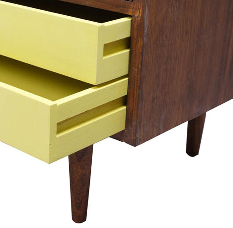 ארונית מעוצבת בסגנון רטרו דגם טרון ביתילי בעלת מדפים ומגירות לאחסון  - תמונה 4