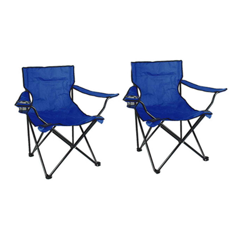 זוג כסאות במאי מתקפלים, כולל ידיות ומקום לכוס, המתאימים לשימוש בחוף הים, טיולים או פיקניקים - תמונה 3