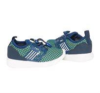 נעלי סניקרס OVS לילדים מבד סרוג - כחול/ירוק