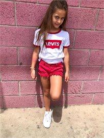 ORO/ שורט ג'ינס (16-2 שנים) - אדום