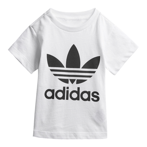 Adidas חולצה (3 חודשים - 4 שנים) - לבן לוגו שחור
