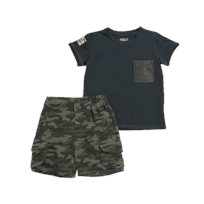 Minene חליפה (24-6 חודשים) - אפור כהה