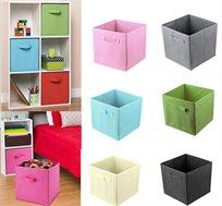 סט 5 קופסאות איחסון מעוצבות לחדרי ילדים במגוון צבעים לבחירה