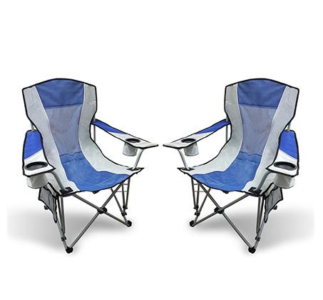זוג כסאות קמפינג מתקפלים