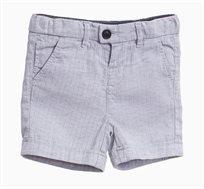 מכנסי ברמודה לתינוקות וילדים בצבע אפור