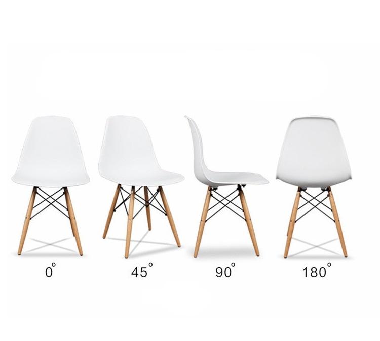 שולחן פינת אוכל עגול מעץ וארבע כיסאות בעיצוב מודרני ובמגוון צבעים וגדלים לבחירה  - תמונה 6