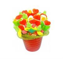 Candy - זר מתוק מסוכריות גומי השזורות בתוך כלי חרס מרהיב בצבעוניותו