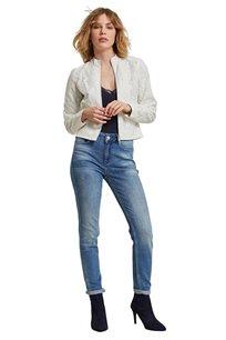 ג'ינס סלים MORGAN משופשף - מותן גבוהה