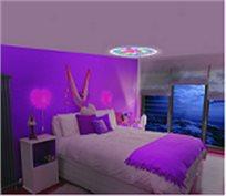 מנורת לילה מקרן LED עם שלל תמונות מתחלפות, בדגמים מרהיבים לבנים ובנות