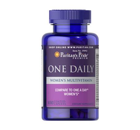 """מולטי-ויטמין יומיומי לנשים תוצרת Puritan's Pride ארה""""ב - 100 טבליות"""