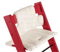 כרית ריפוד ועיצוב לכיסא אוכל טריפ טראפ 100% כותנה - אדום גאומטרי
