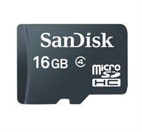 כרטיס זיכרון microSDHC בנפח 16GB מבית SanDisk עם אחריות ל-5 שנים - משלוח חינם