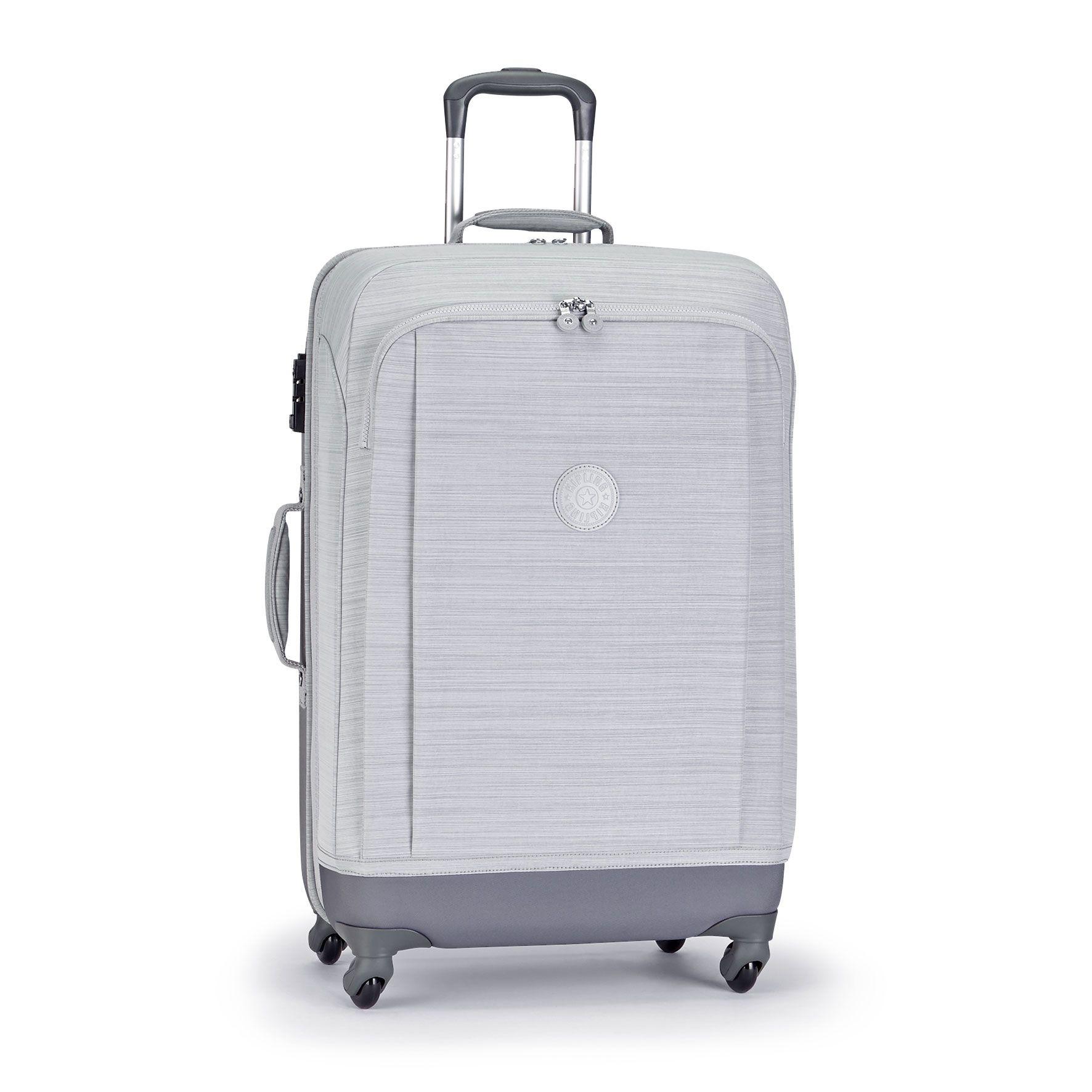 מזוודה בינונית Super Hybrid M - Dazz Grey Cהדפס אפור